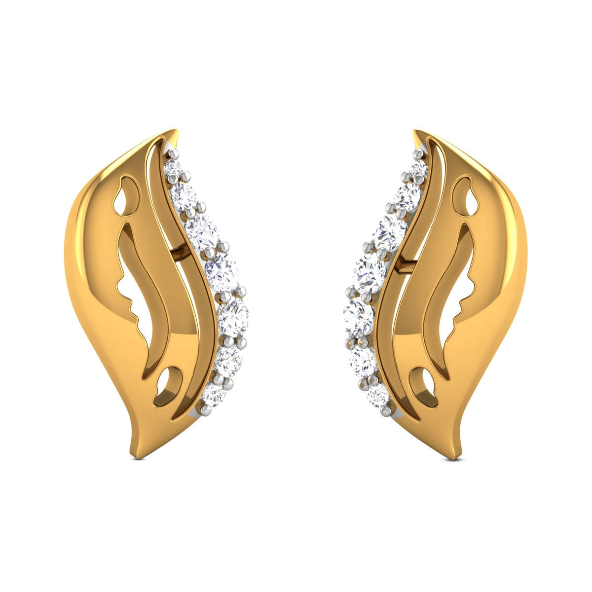 Estaa Diamond Stud Earrings