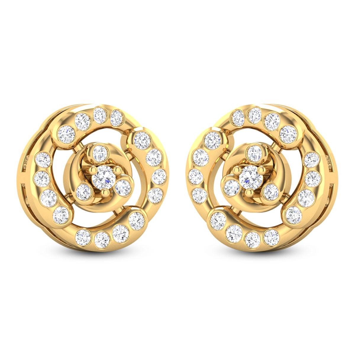 Ebbani Diamond Stud Floral Earrings
