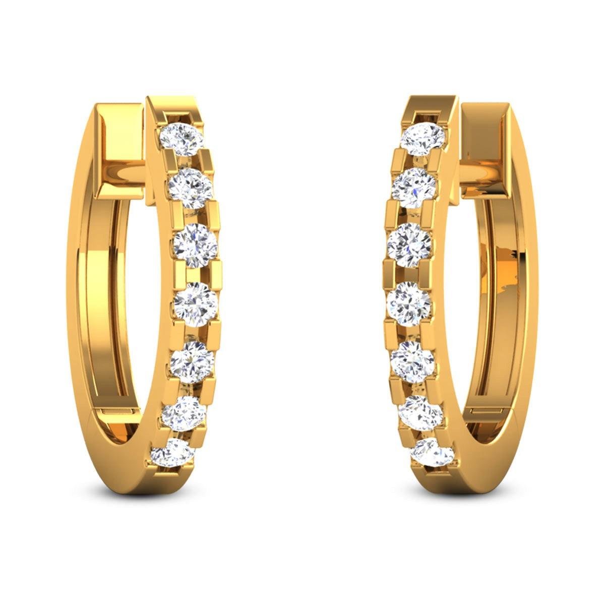 Fulmati Diamond Hoop Earrings