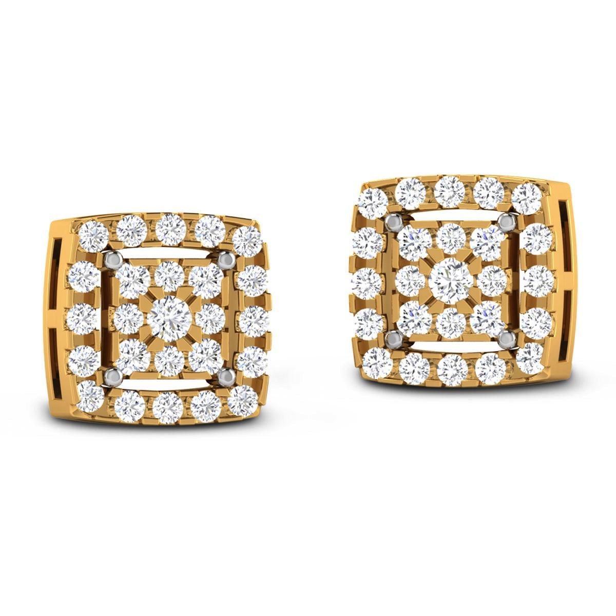 Dalaja Diamond Stud Earrings