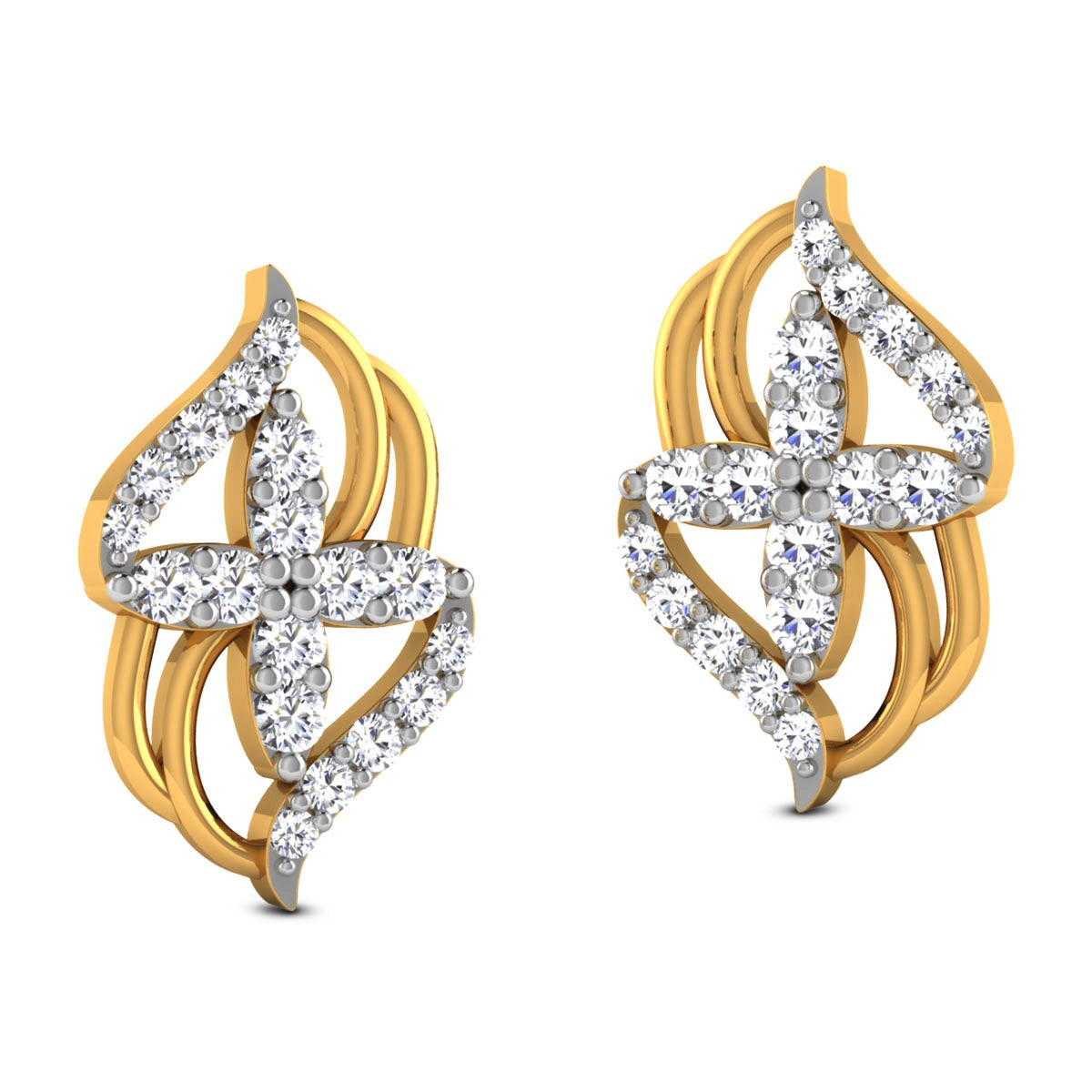 Devanshi Diamond Stud Earrings