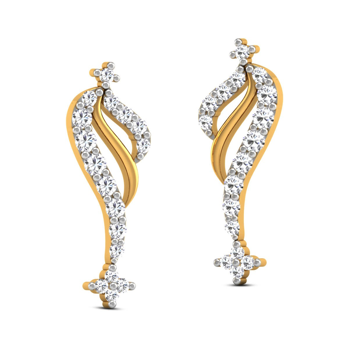 Dhyumna Diamond Stud Earrings