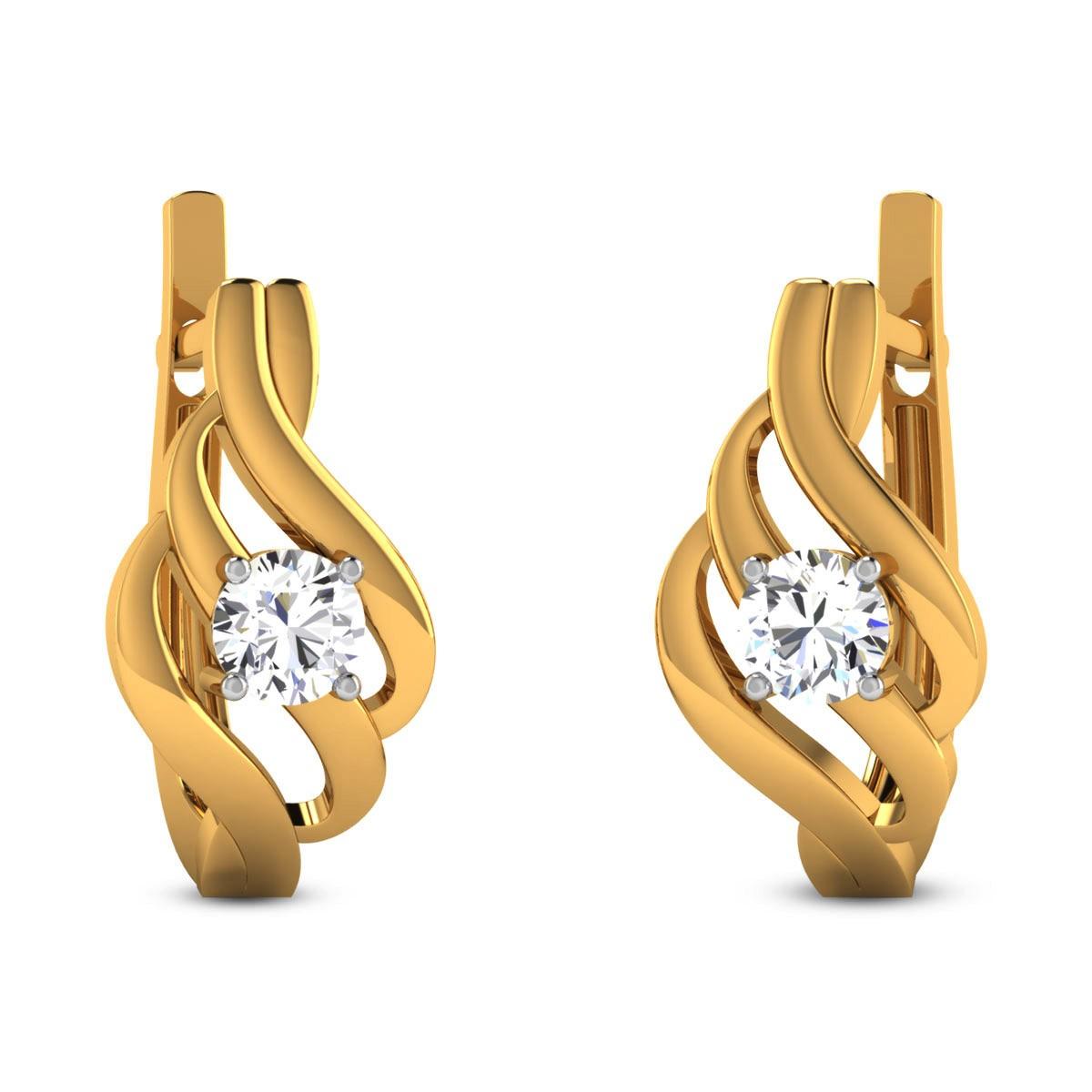 Cleia Diamond Hoop Earrings