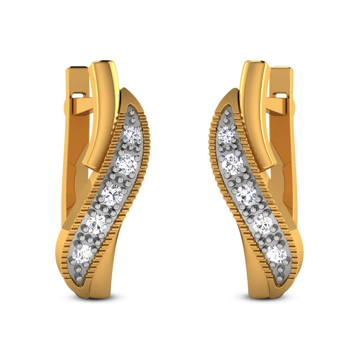Ganika Diamond Hoop Earrings