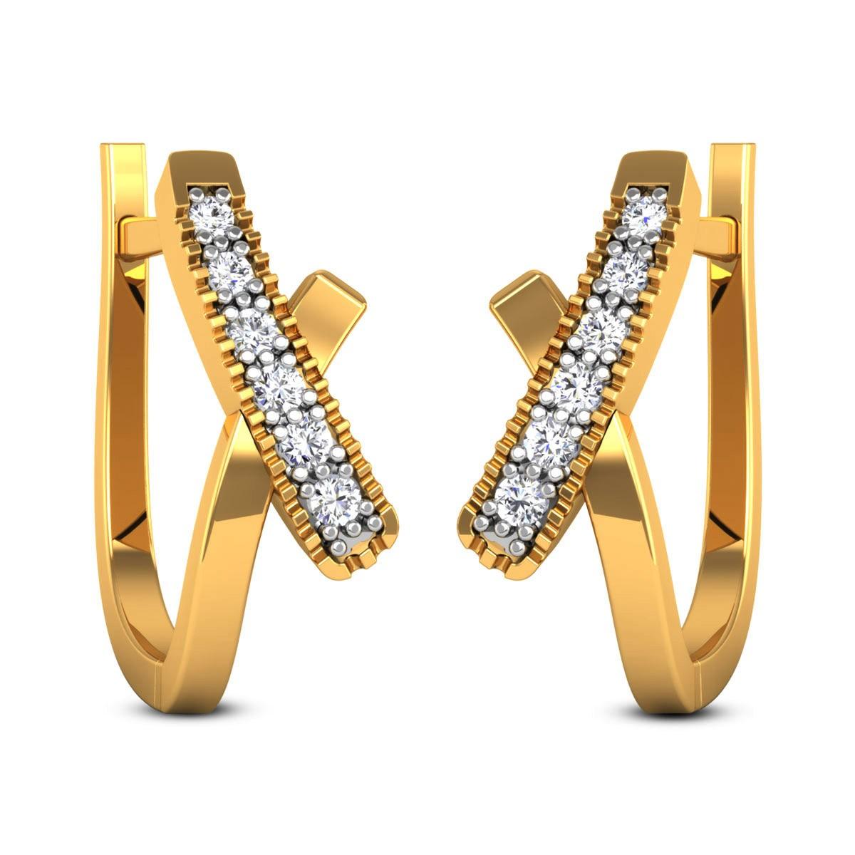 Gloshini Diamond Hoop Earrings