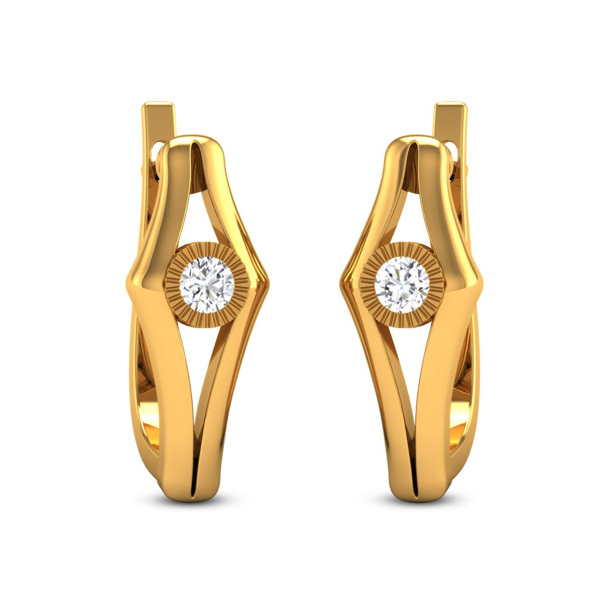 Bazil Diamond Hoop Earrings