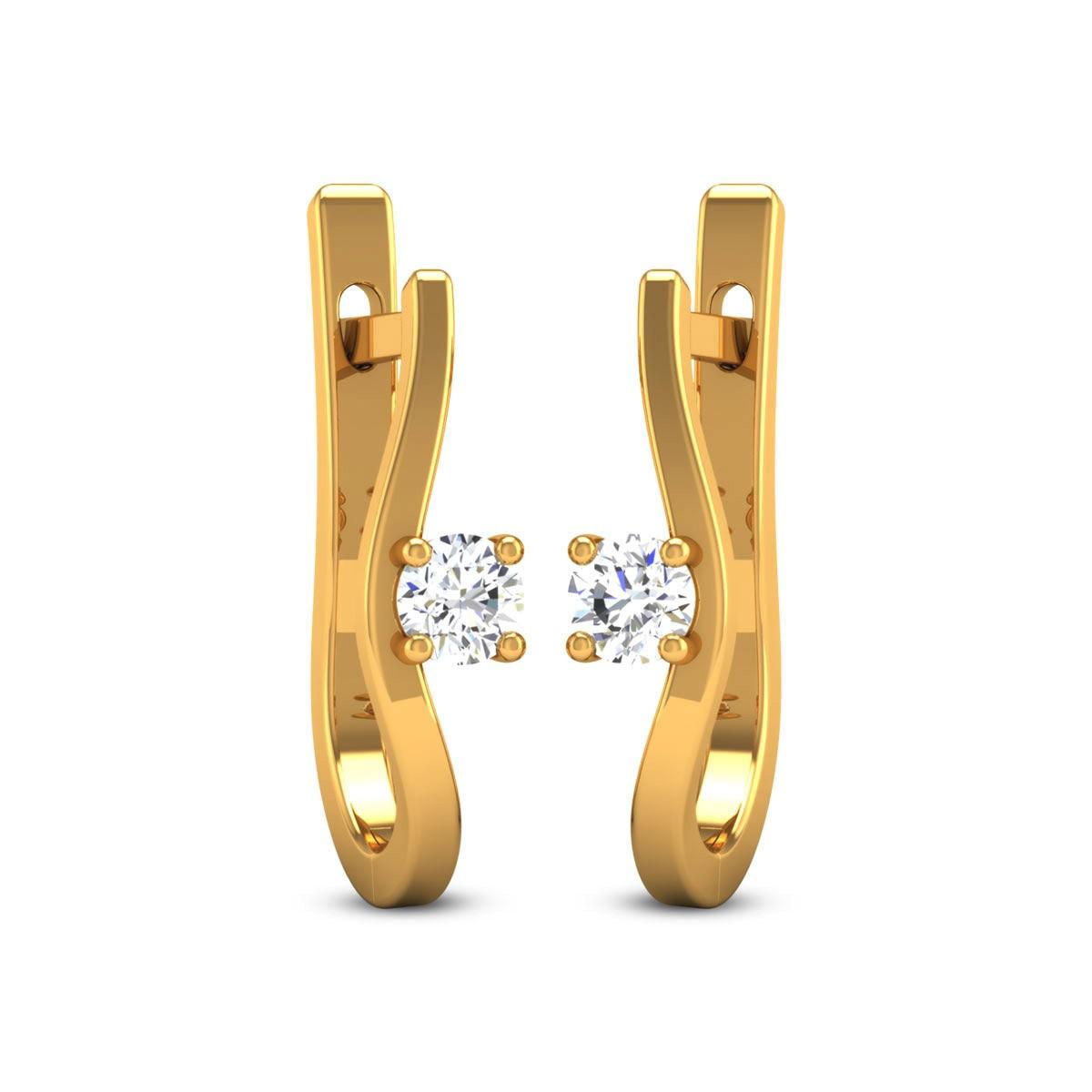 Hiral Diamond Hoop Earrings