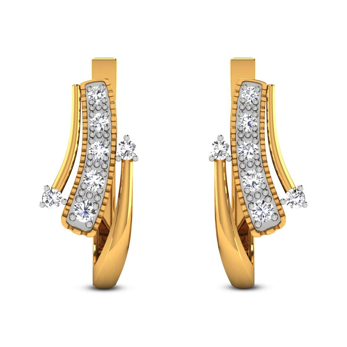 Husnika Diamond Hoop Earrings