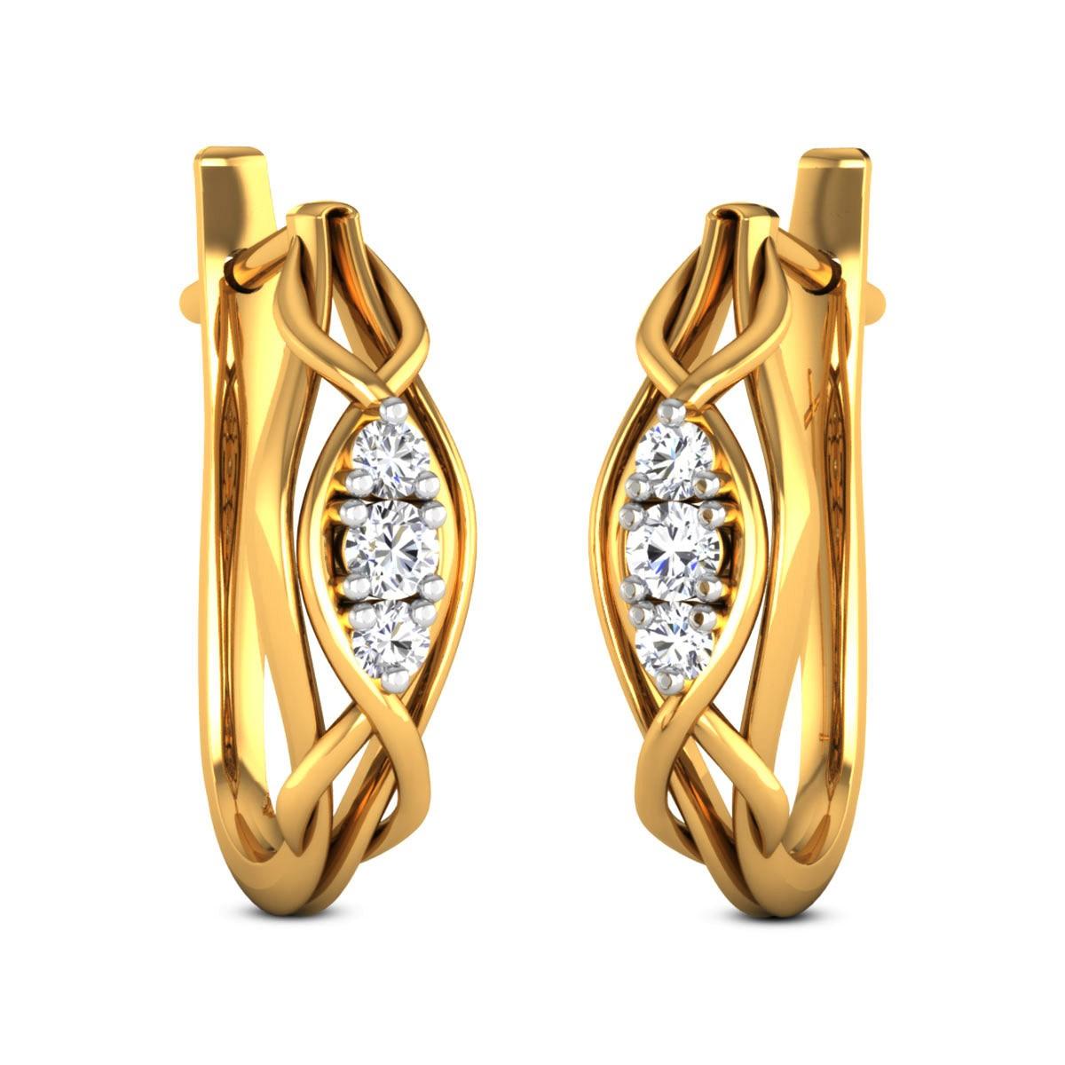Fulki Diamond Hoop Earrings