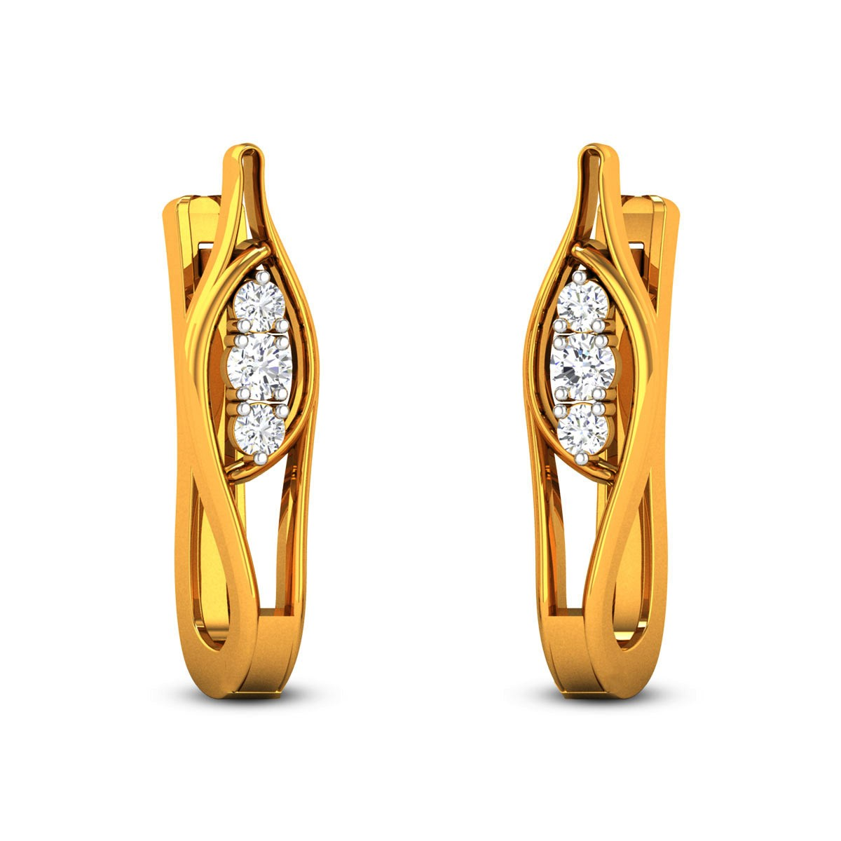 Hira Diamond Hoop Earrings