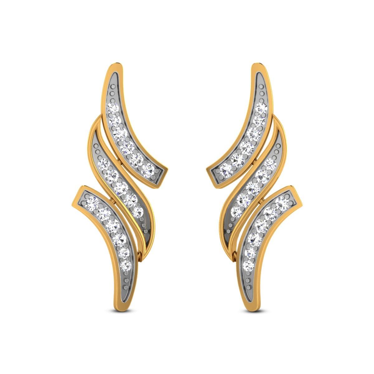 Grecy Diamond Stud Earrings