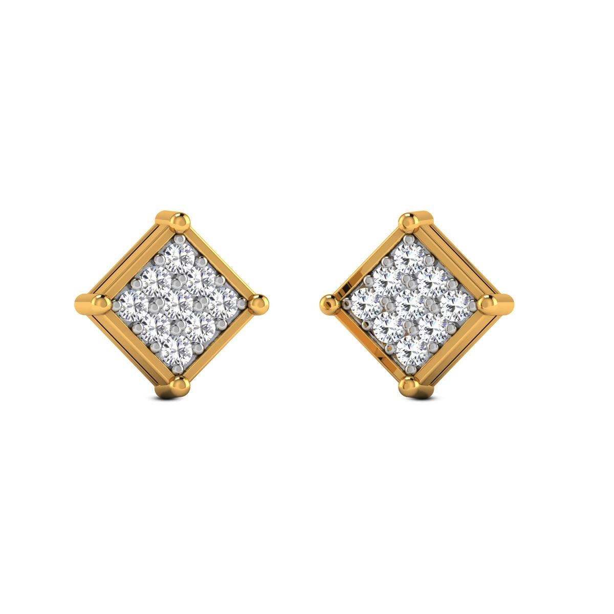 Cilac Diamond Hoop Earrings