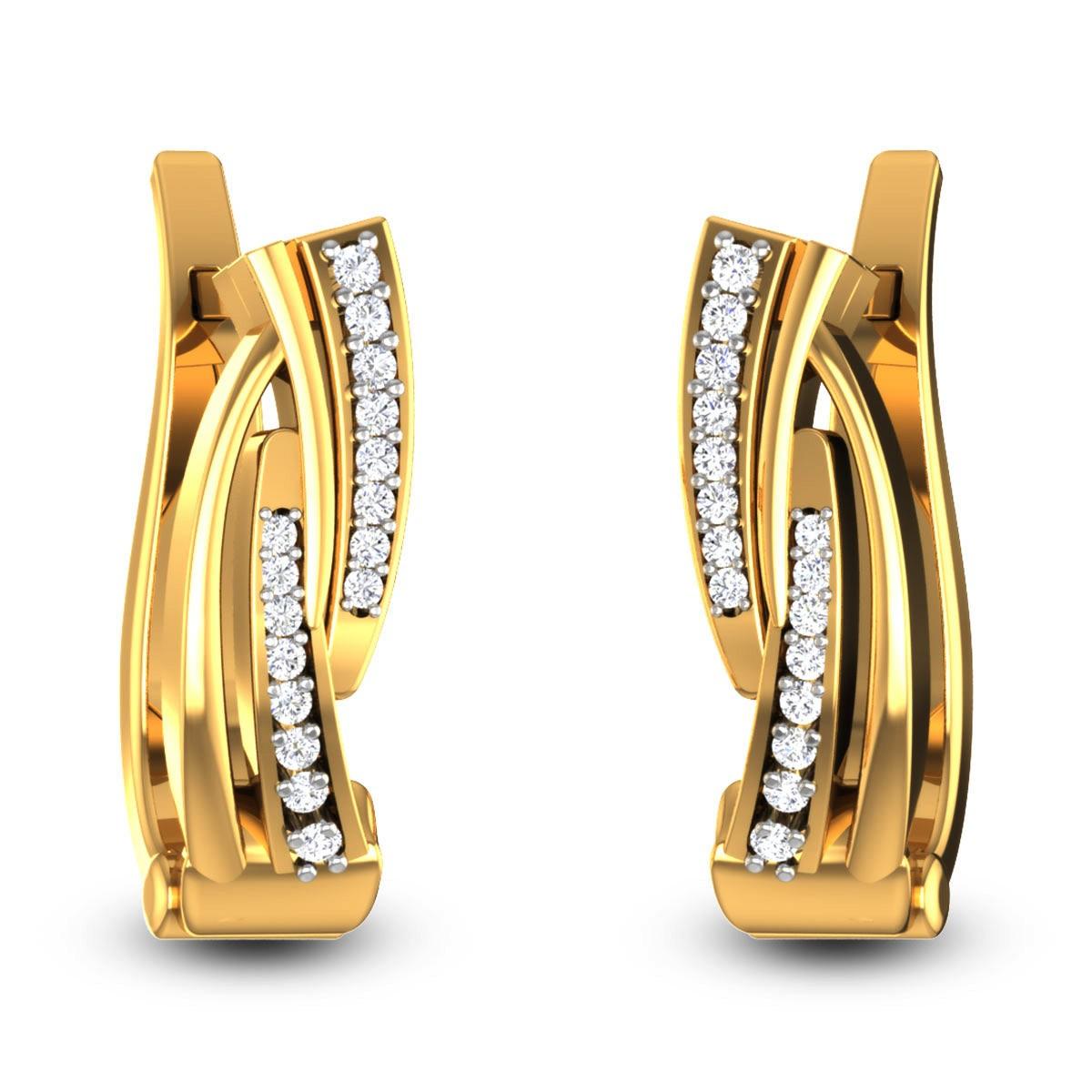Cladia Diamond Hoop Earrings