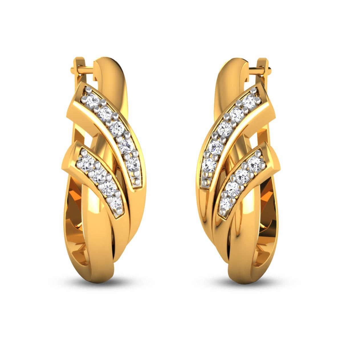 Harnoor Diamond Hoop Earrings