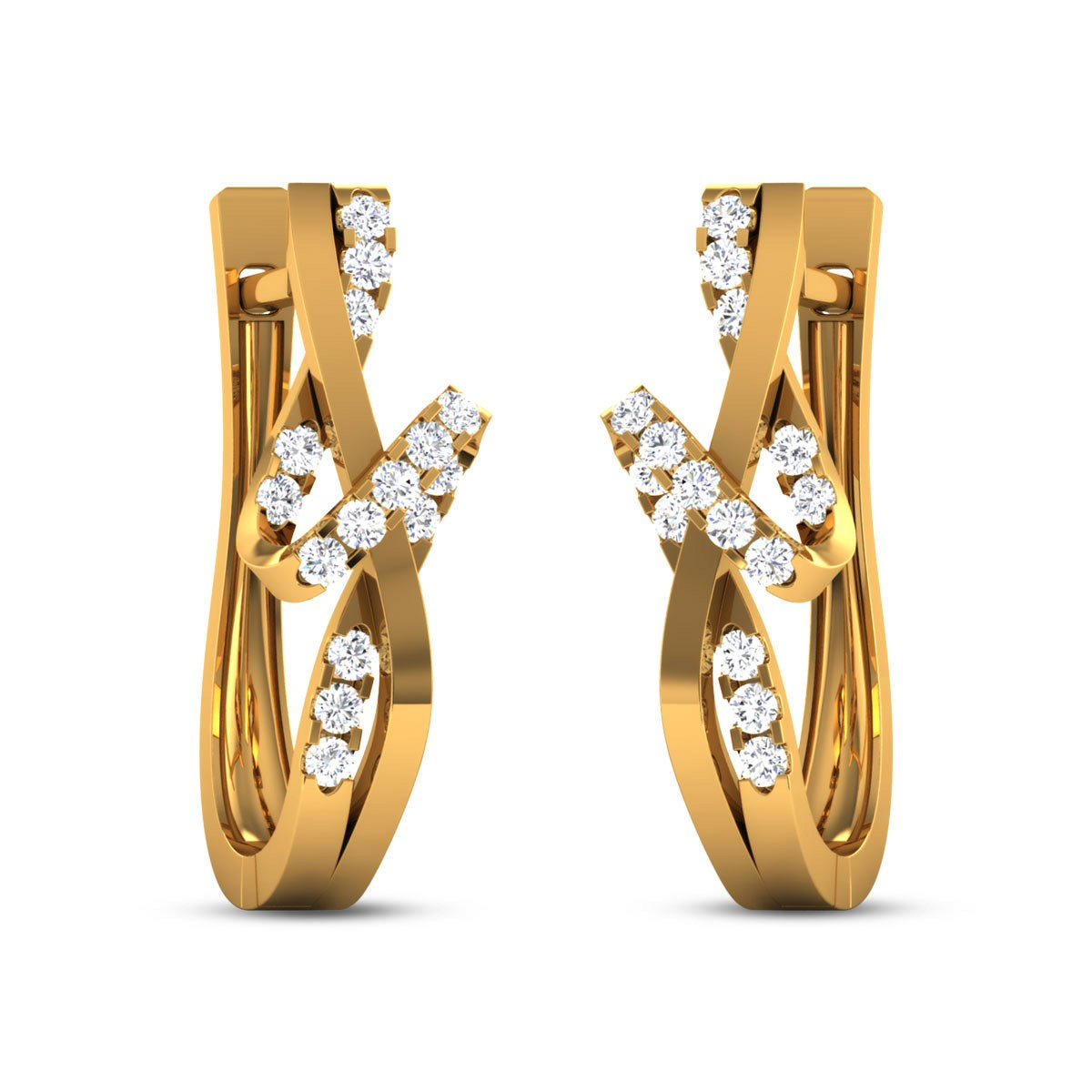 Hasina Diamond Hoop Earrings