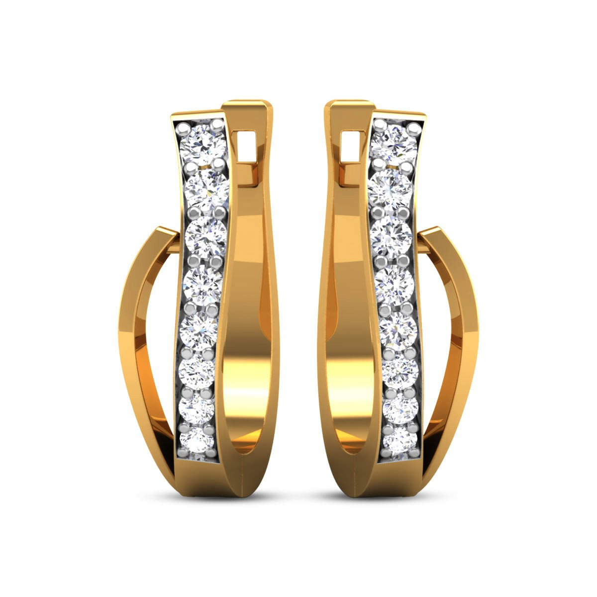 Clariza Diamond Hoop Earrings
