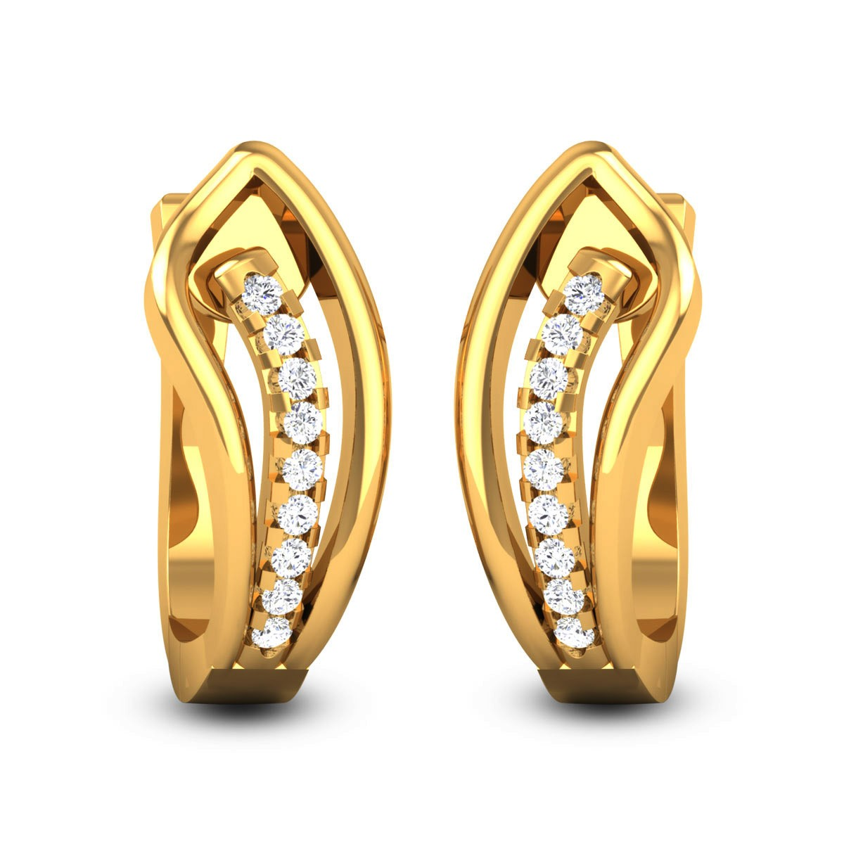 Hruthi Diamond Hoop Earrings