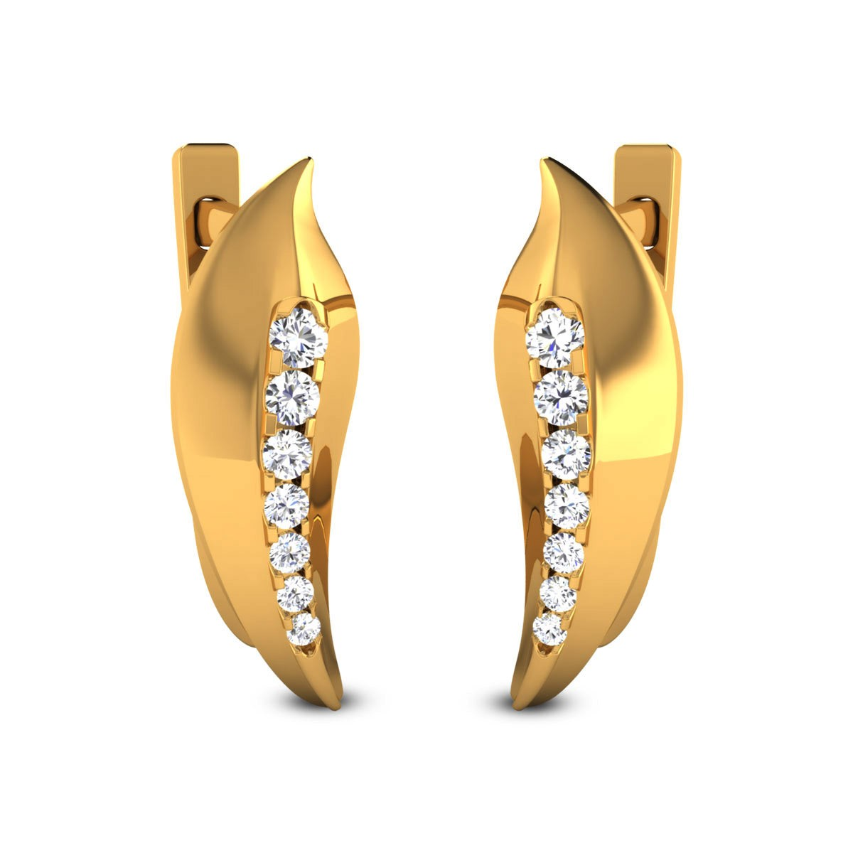 Huma Diamond Hoop Earrings