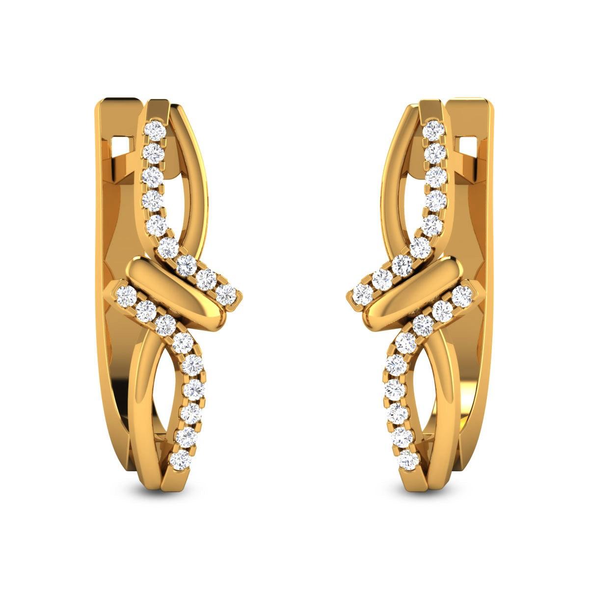 Hasitha Diamond Hoop Earrings