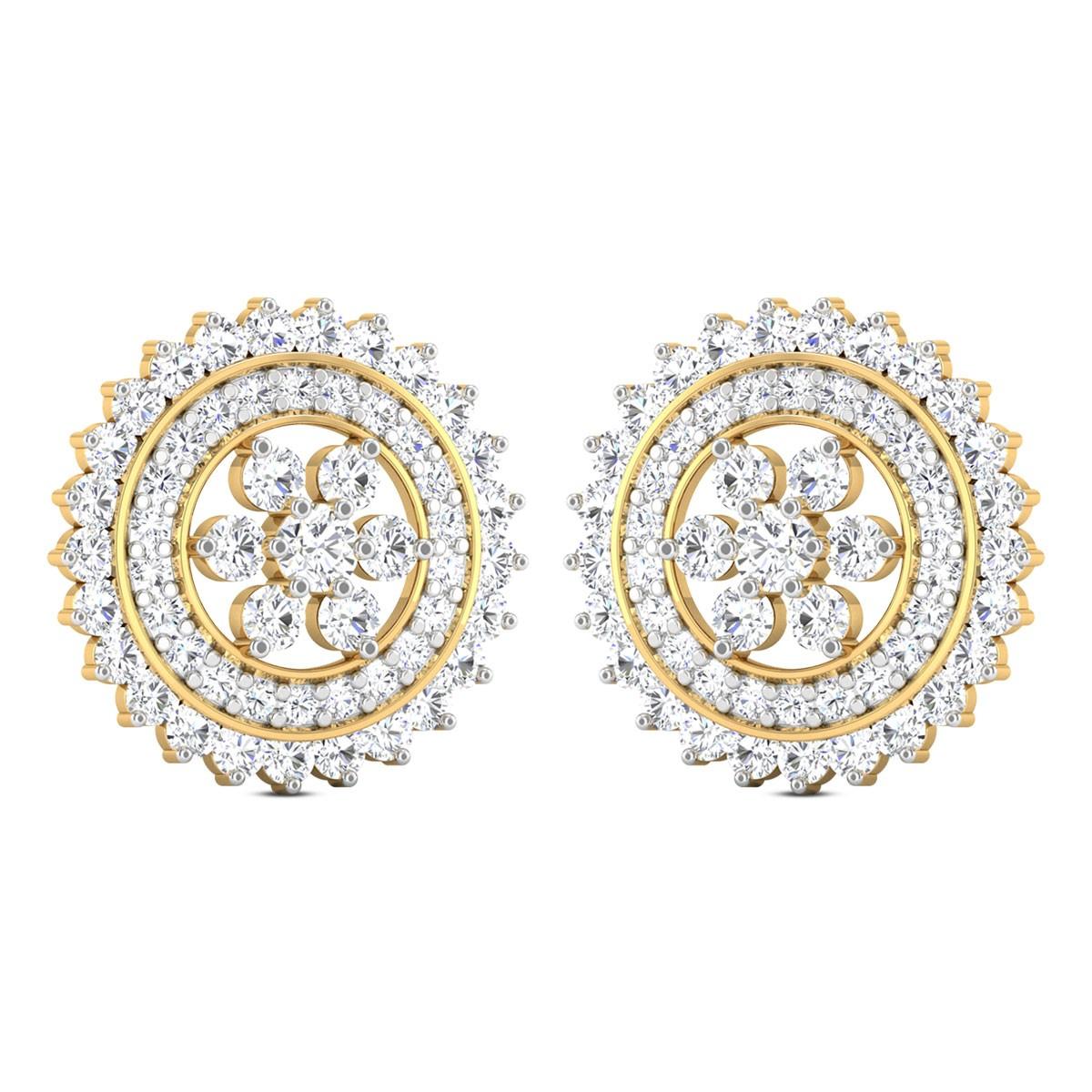 Harlow Floral Diamond Stud Earrings