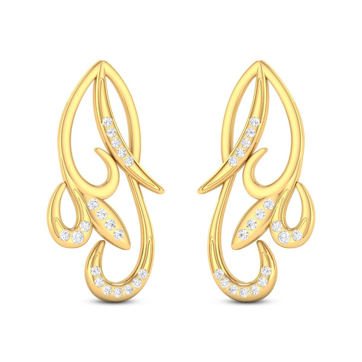 Qiana Floral Diamond Stud Earrings