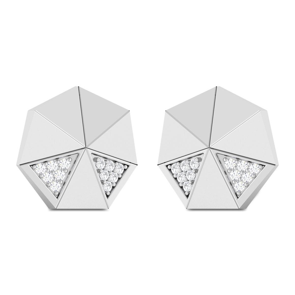 Reva Geometric Diamond Stud Earrings