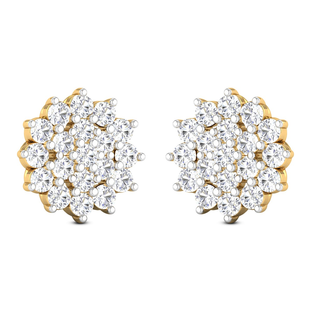Quelle Floral Diamond Stud Earrings