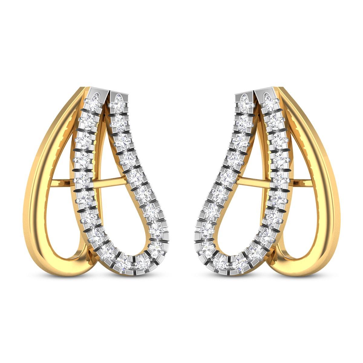 Ohiyo Diamond Stud Earrings