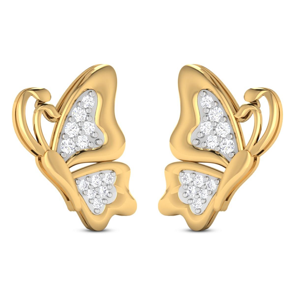Johnette Butterfly Diamond Stud Earrings
