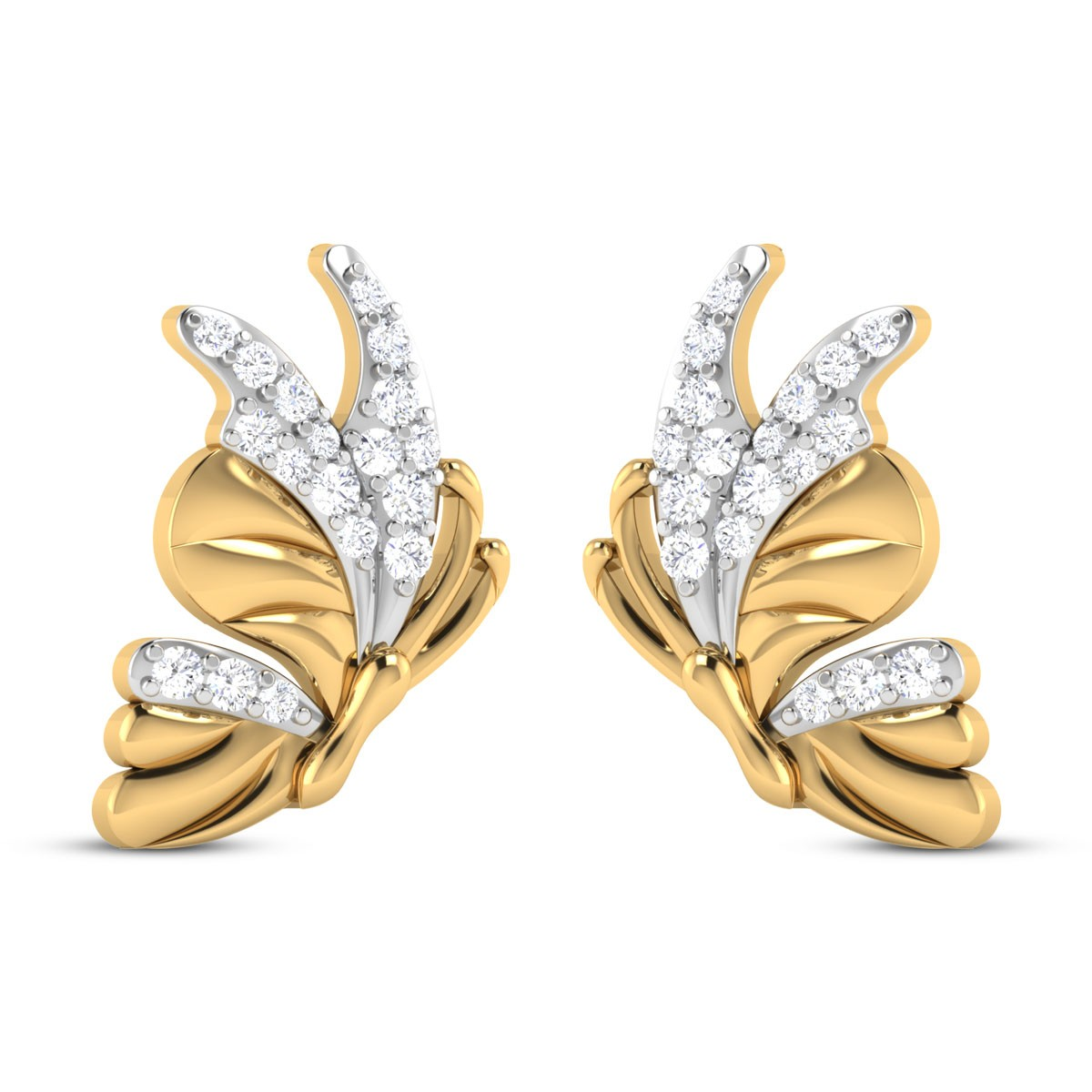 Jodelle Butterfly Diamond Stud Earrings