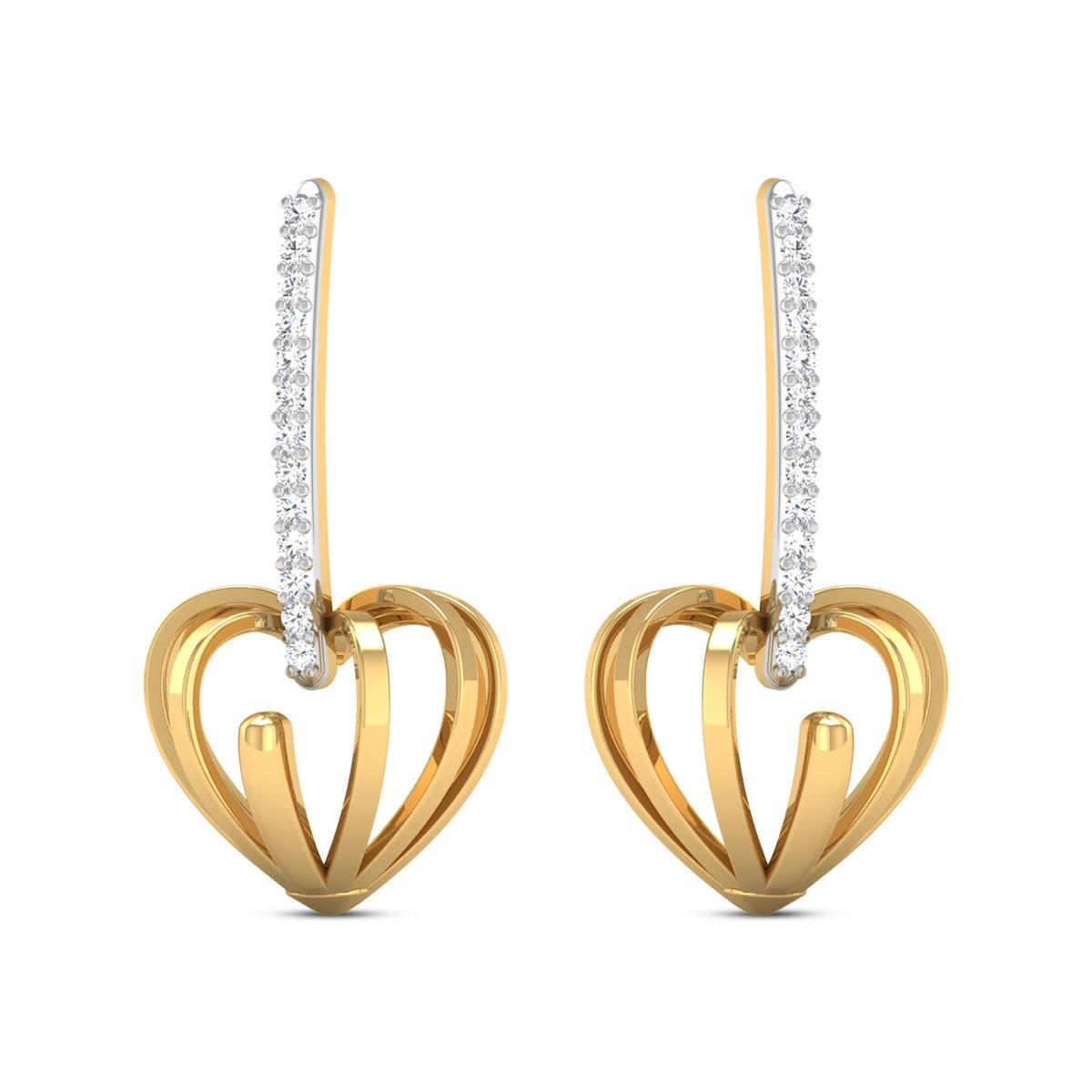 Naila Diamond Heart Earrings