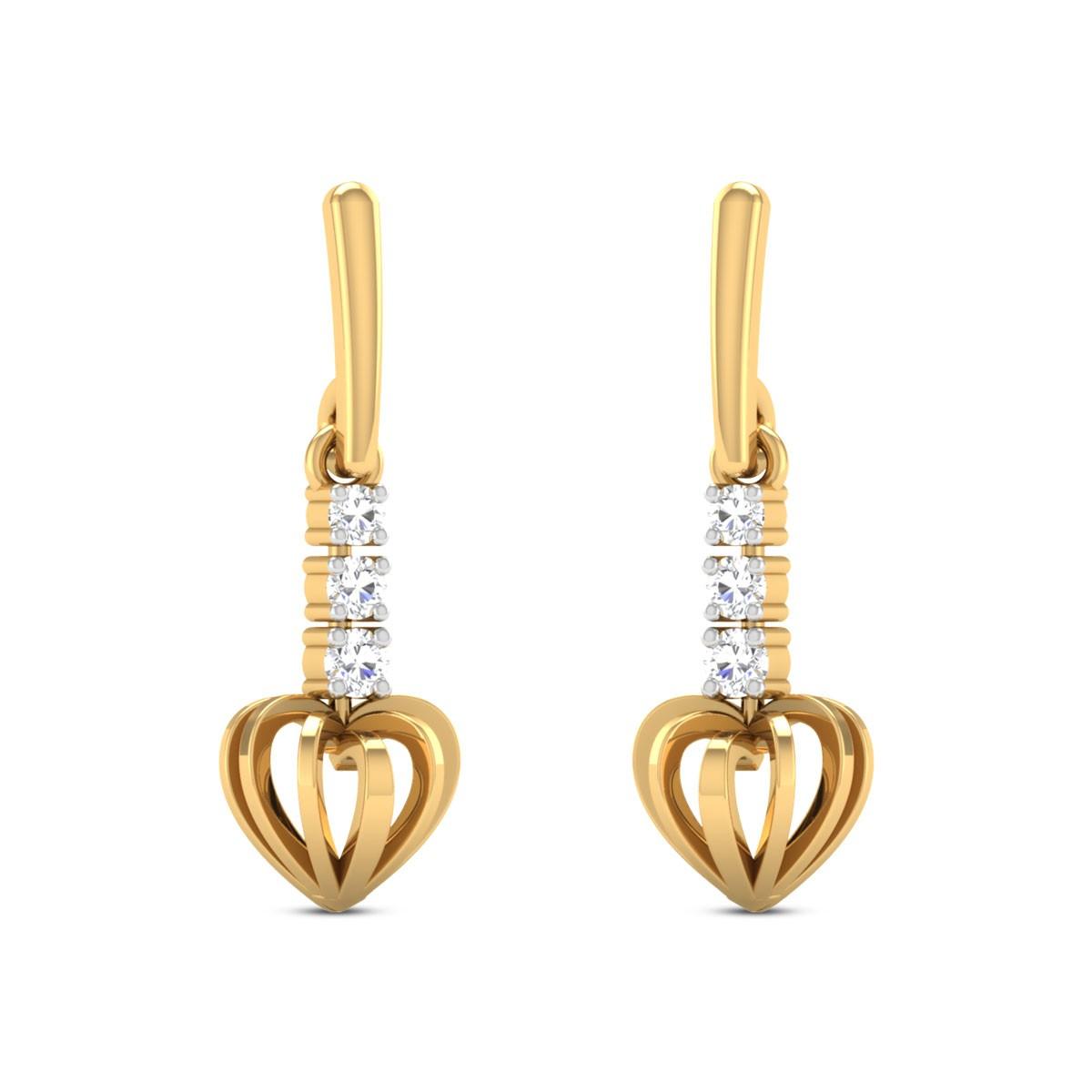 Nanea Diamond Heart Dangler Earrings