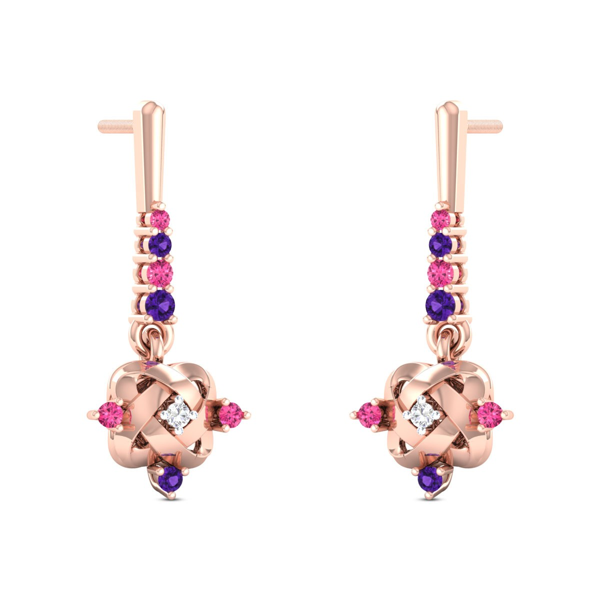 Luben Diamond Dangler Earrings