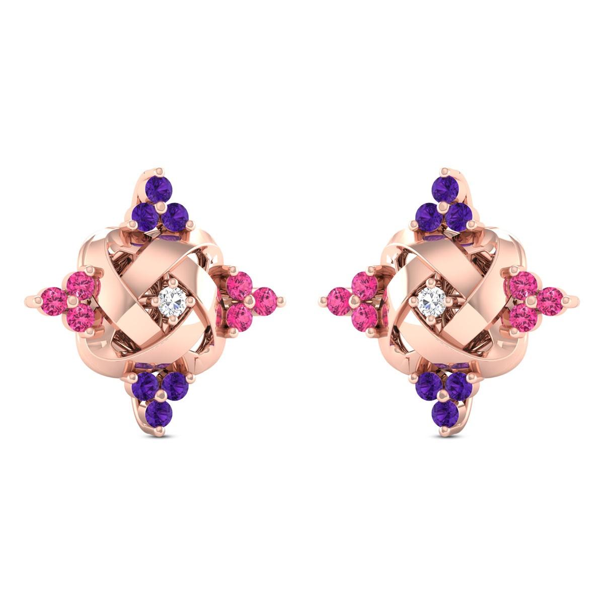 Anwil Diamond Stud Earrings