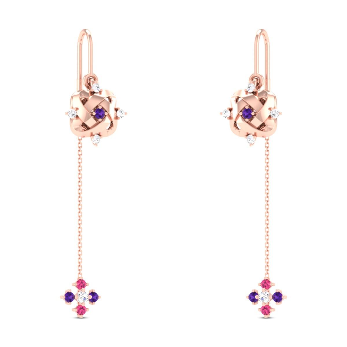Aiko Diamond Sui Dhaga Earrings