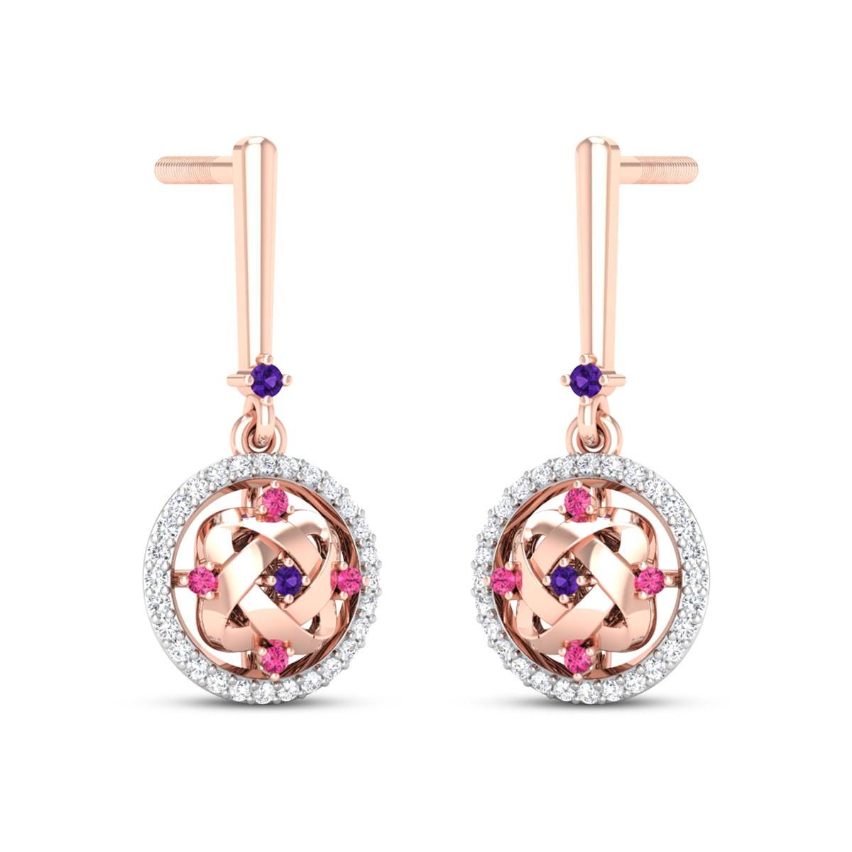 Aphrodite Diamond Dangler Earrings