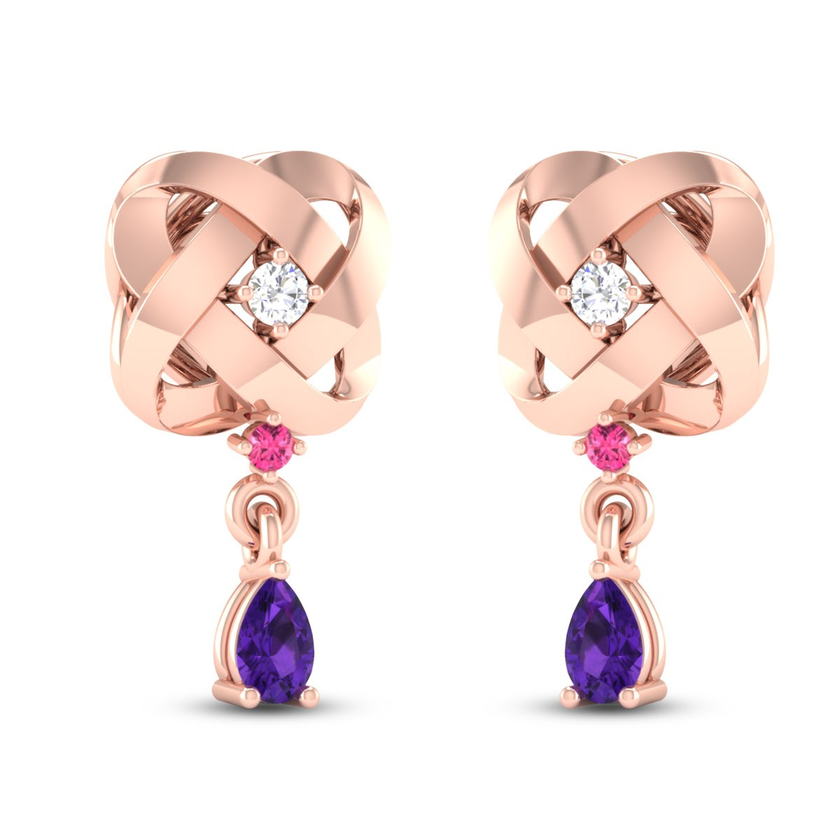Milada Diamond Drop Earrings