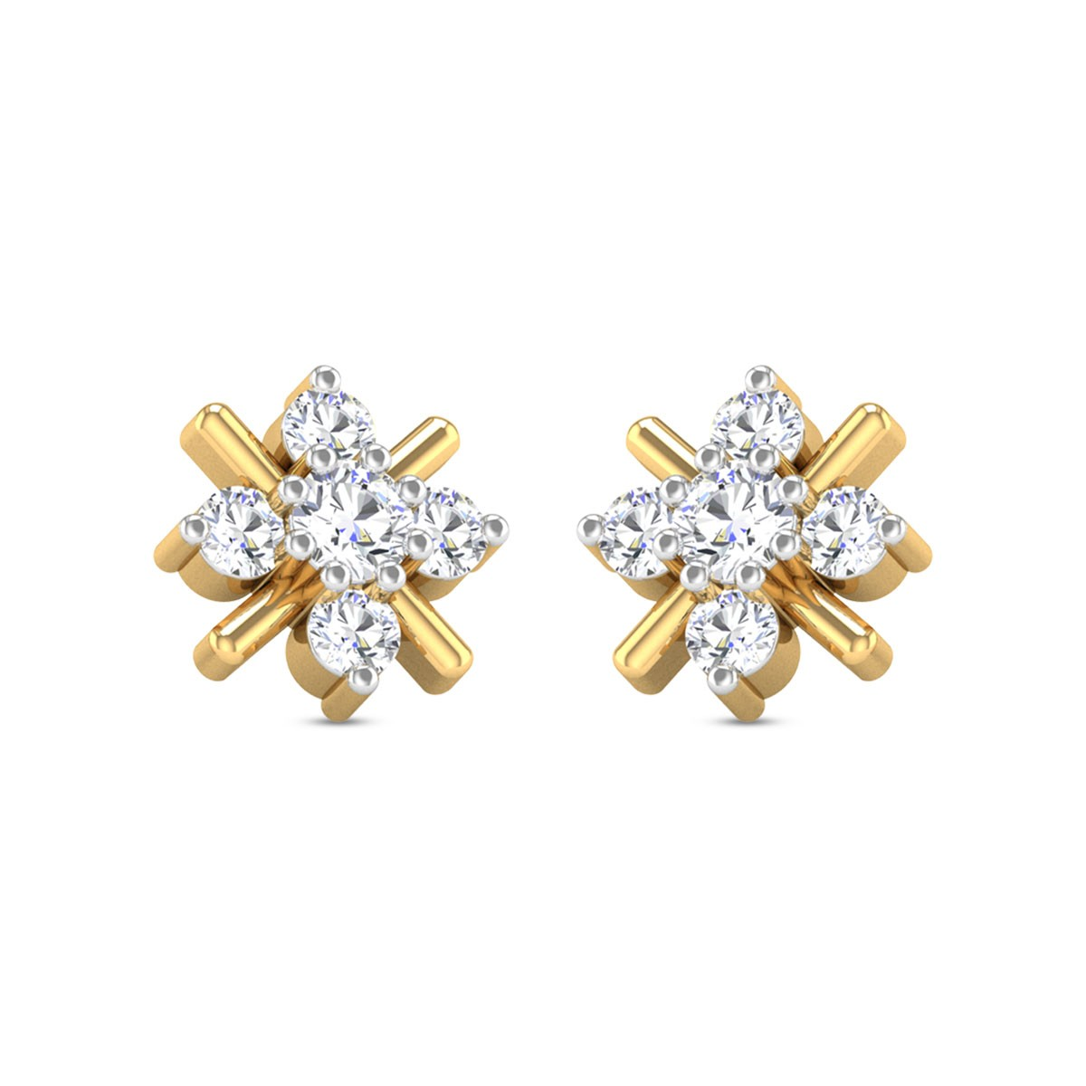 Inaya Floral Diamond Earrings