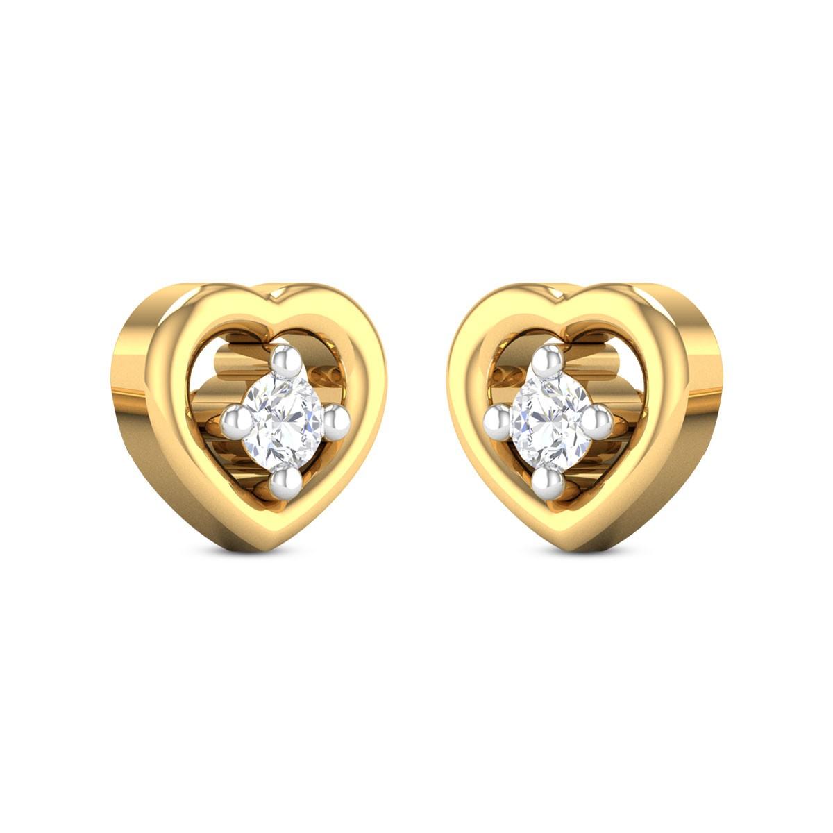Natalie Heart Diamond Earrings