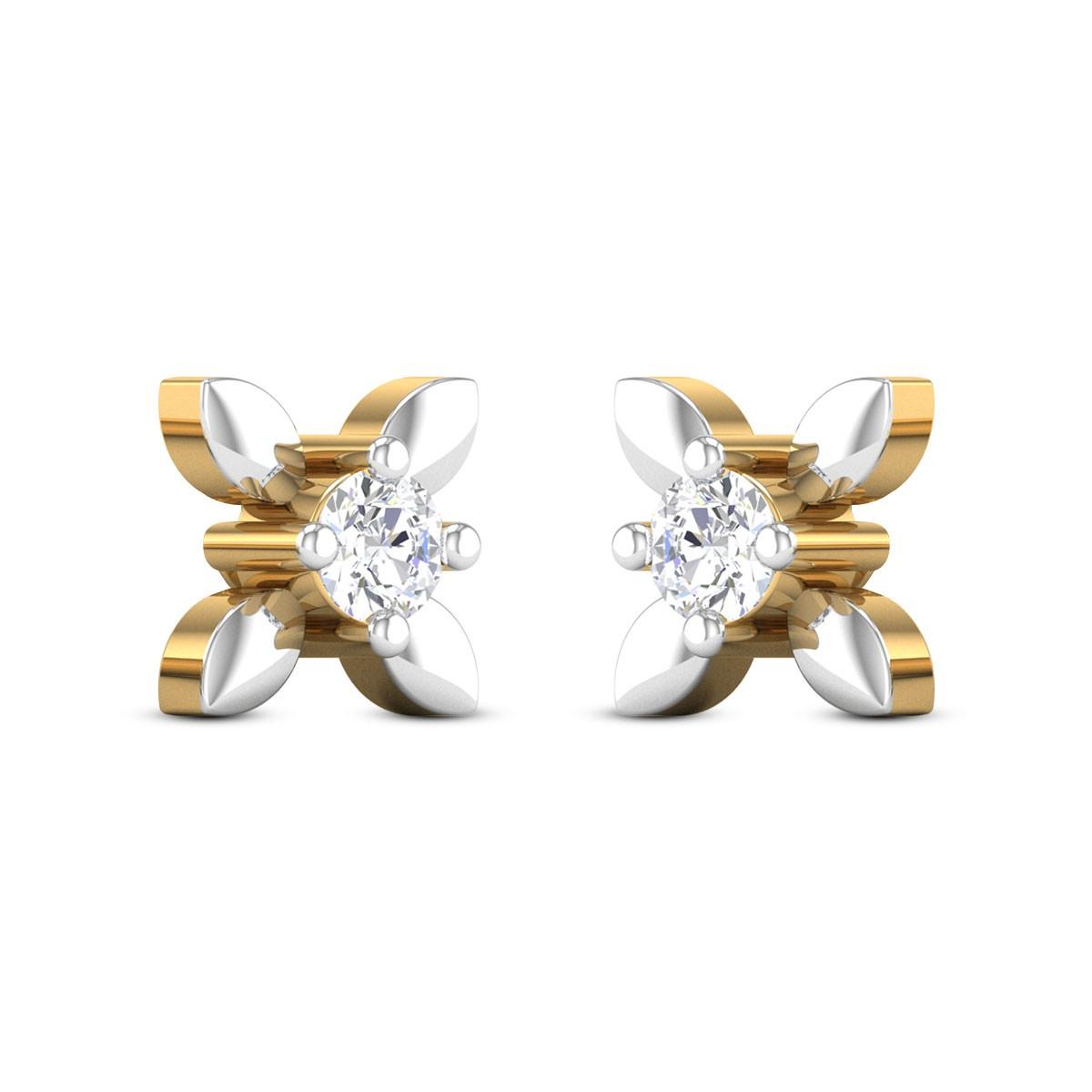 Shanay Floral Diamond Earrings