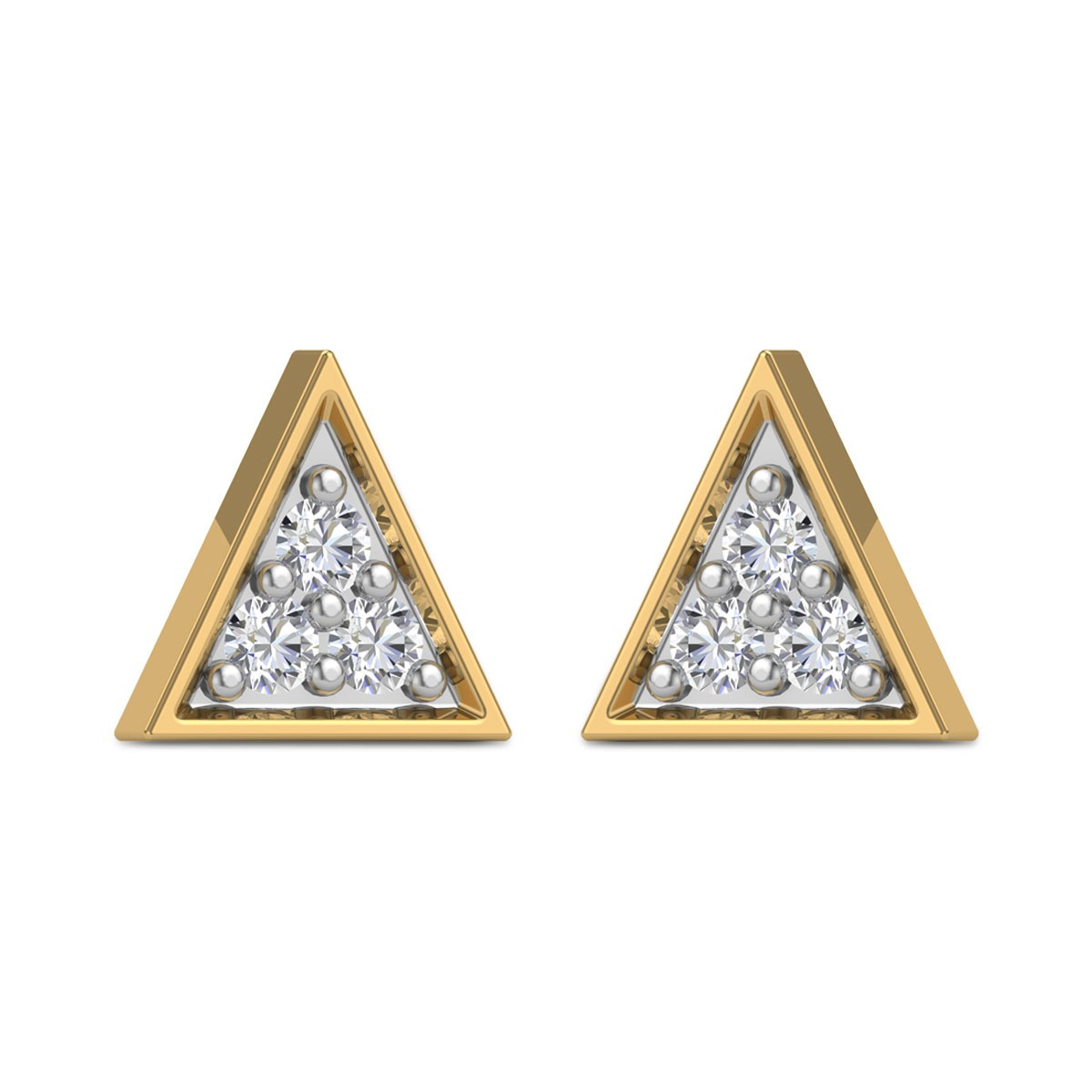 Adilah triangle Diamond Earrings