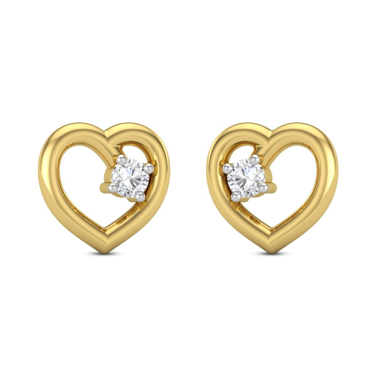Arfa heart Diamond Earrings