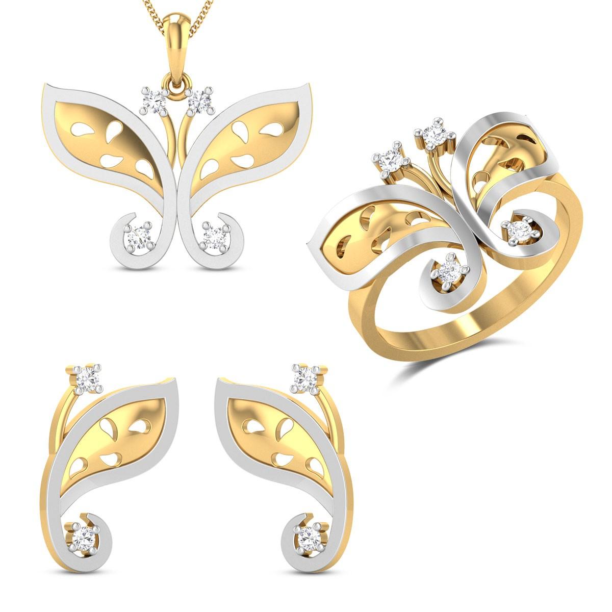 Charlotte Diamond Jewellery Set