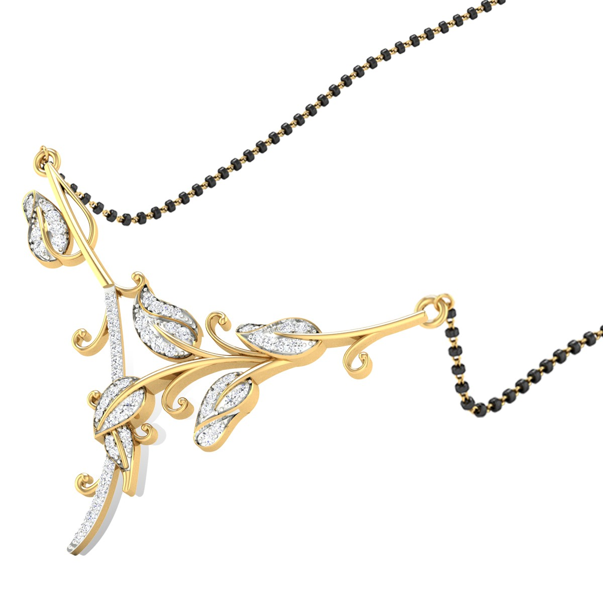 Flora Diamond Mangalsutra
