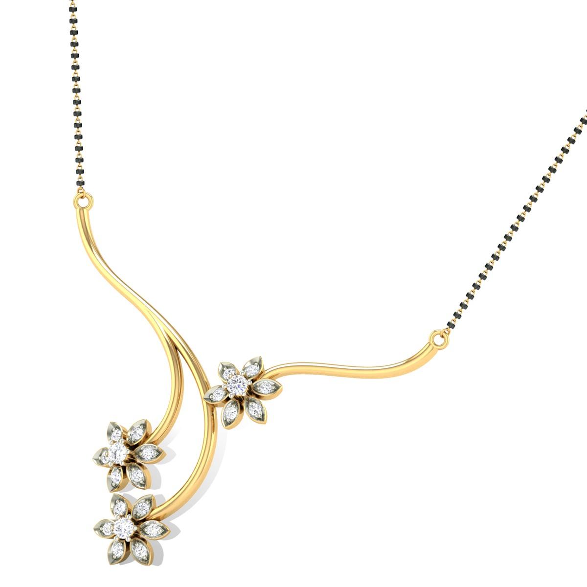 Divine Flower Diamond Mangalsutra