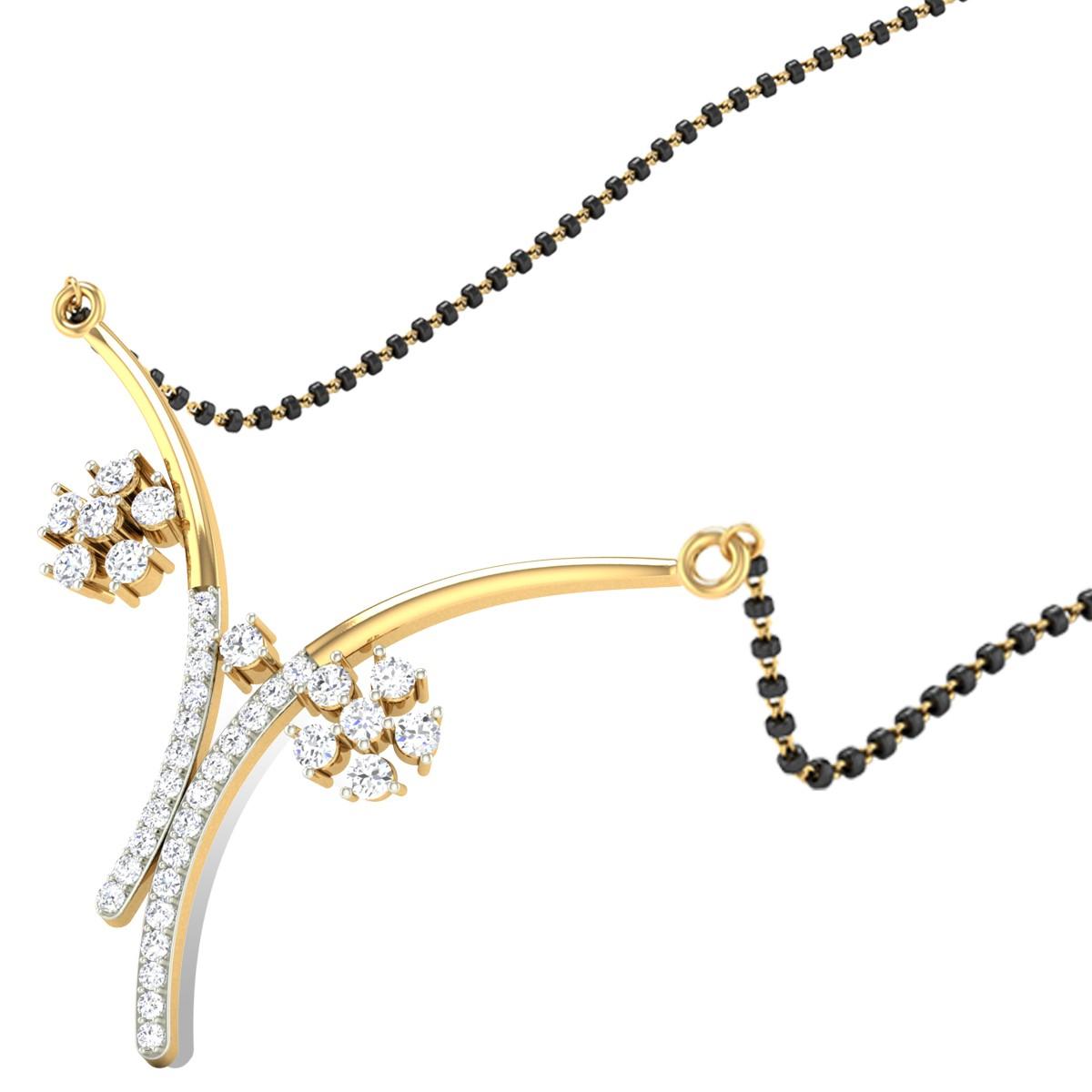 Interlock Orchid Diamond Mangalsutra