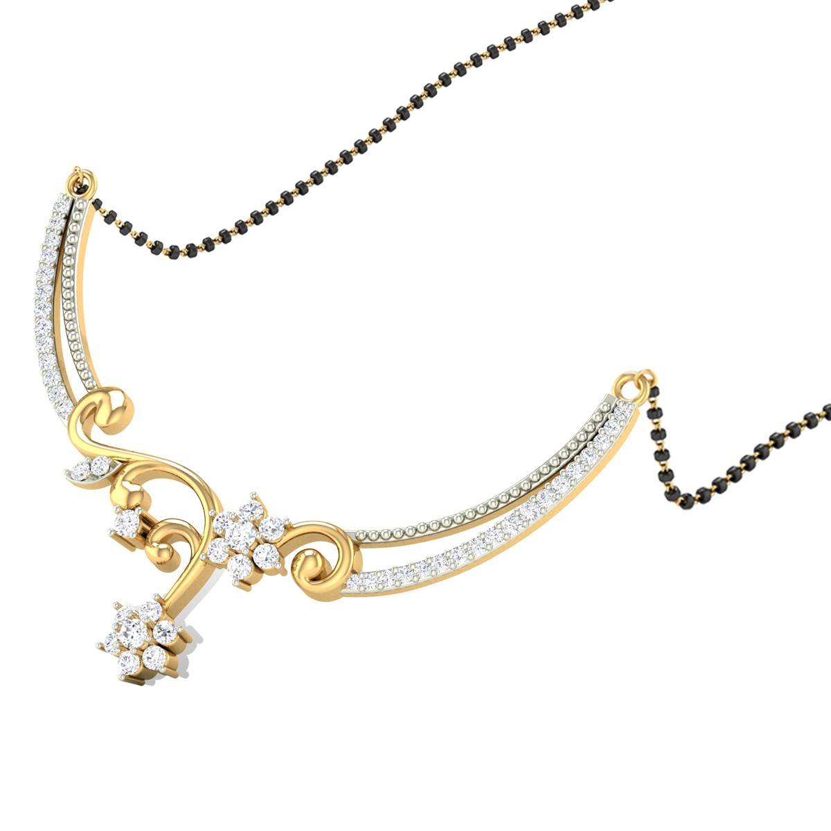 Charisma Floral Diamond Mangalsutra