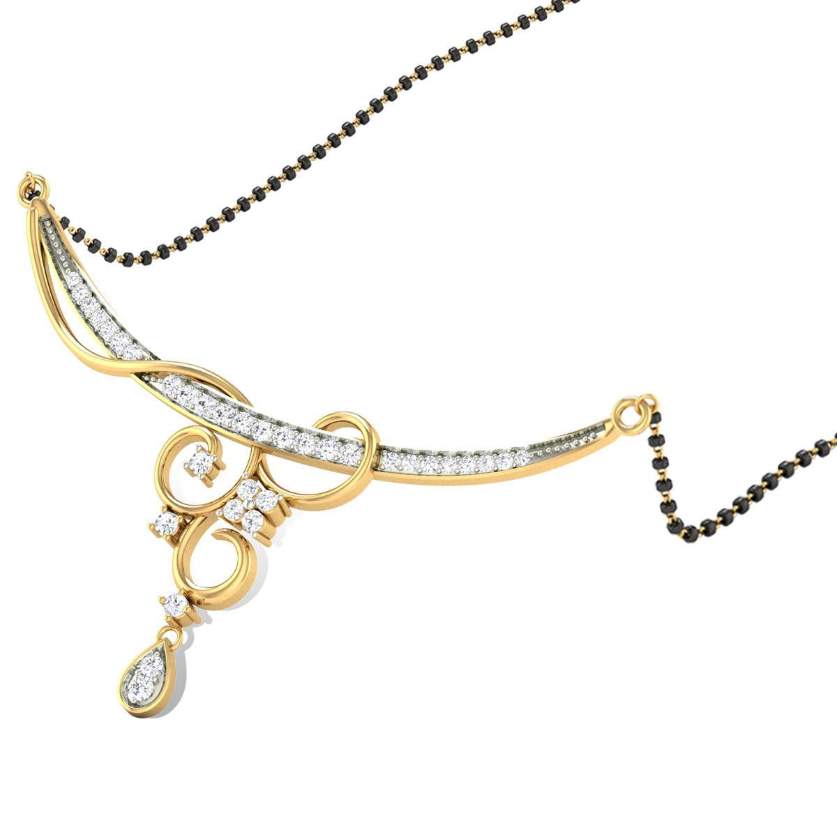 Tivra Creeper Diamond Mangalsutra