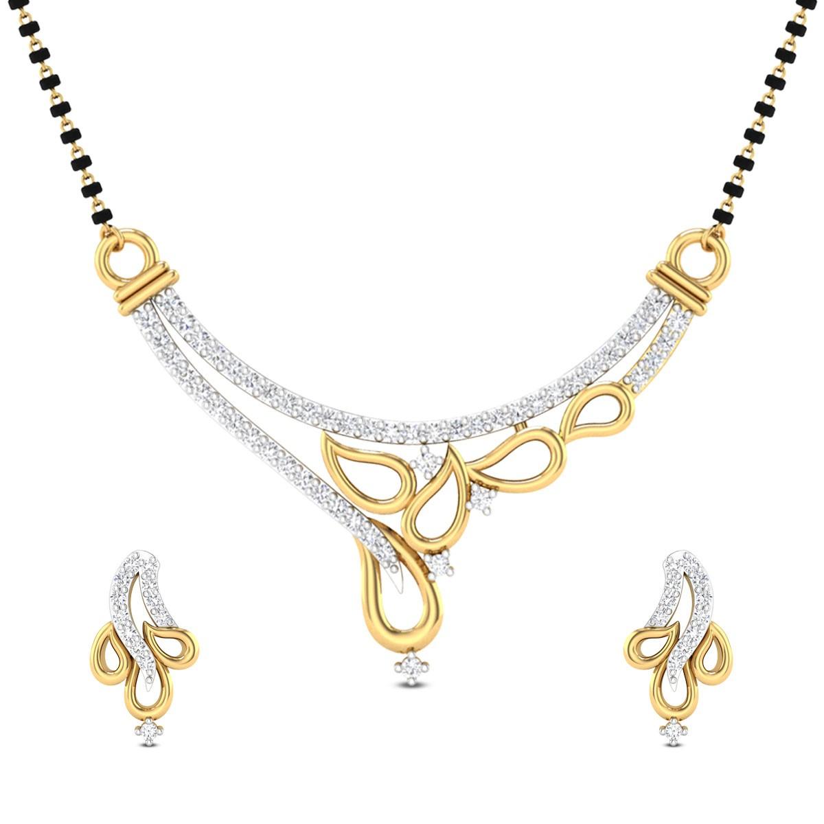 Aviana Diamond Mangalsutra Set