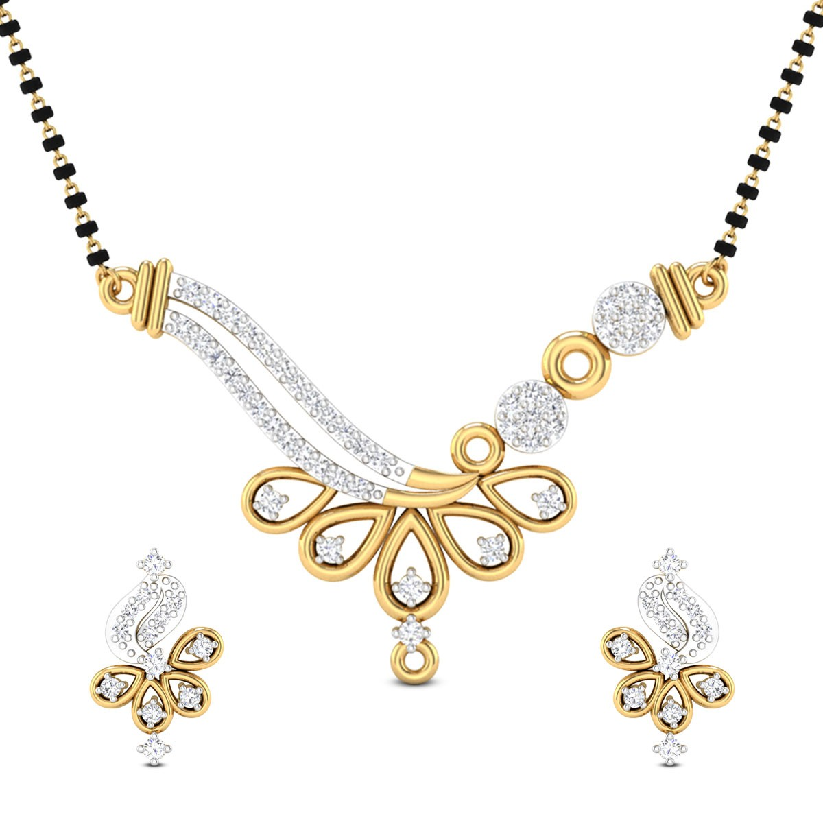 Kase Diamond Mangalsutra Set